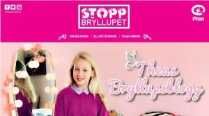 Theas bryllupsblogg, Plans kampanje mot barneekteskap