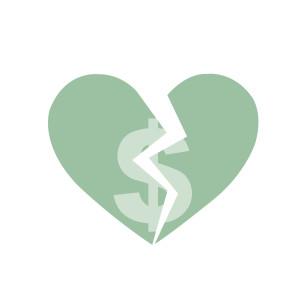 Broken moneyheart