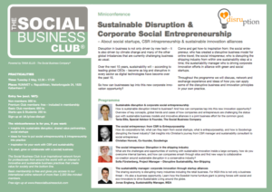 Sustainable Disruption_Miniconference