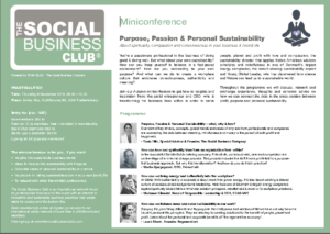 Miniconference_Purpose Passion Personal Sustainability