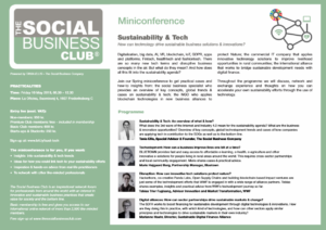 Sustainability & Tech_ miniconference The Social Business Club
