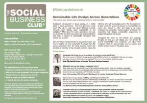 Miniconference_Sustainable Life Design Across Generations